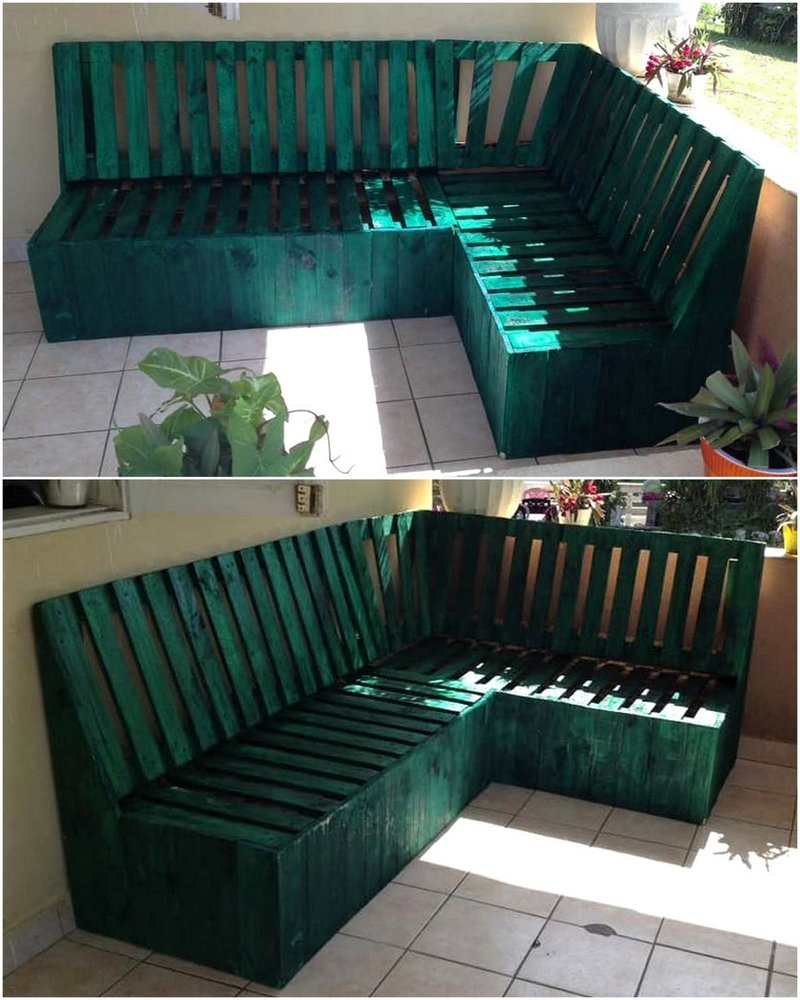 wood pallet corner couch