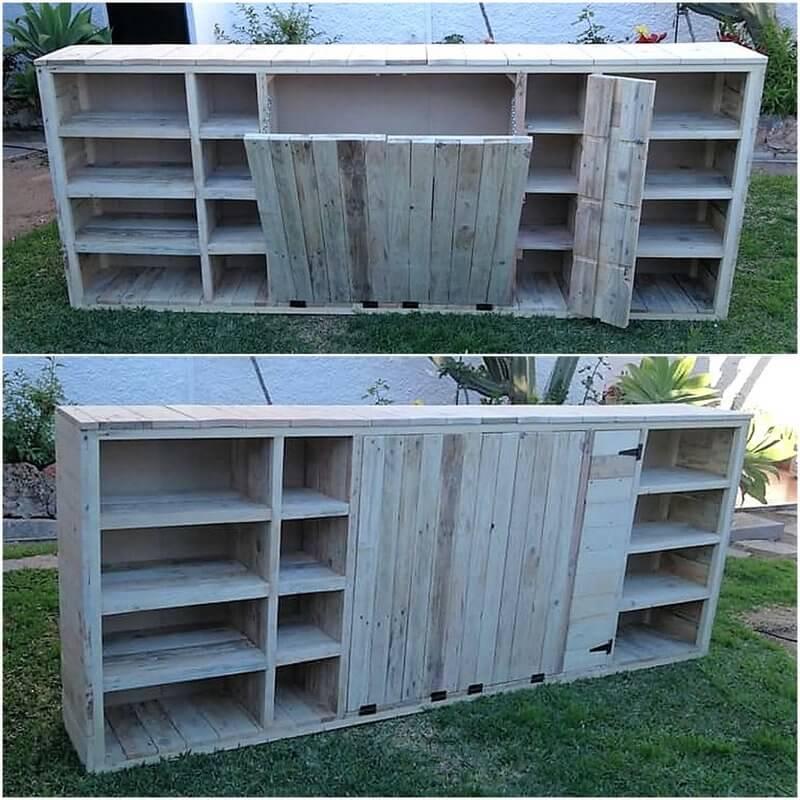 wood pallet kitchen storage cabinet