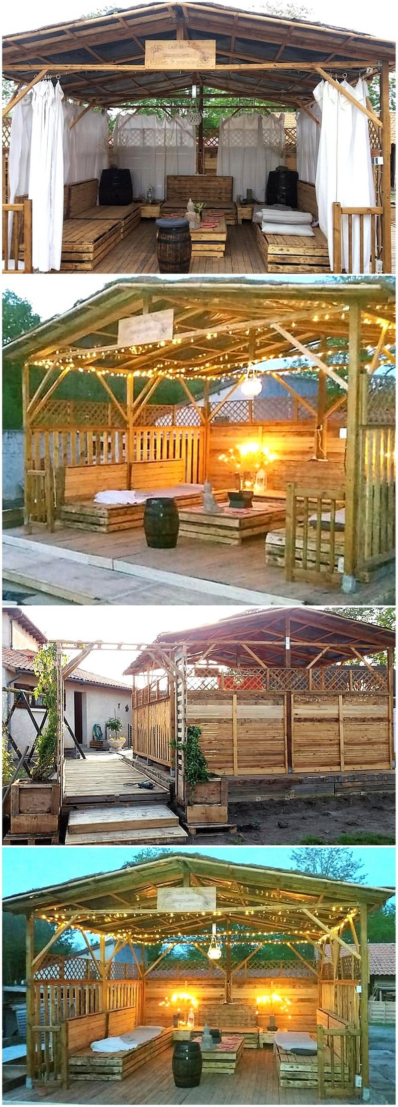 wooden pallet outdoor gazebo deck