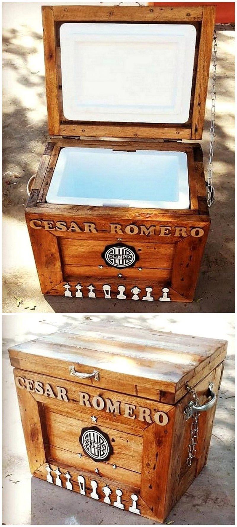 wooden pallet rustic cooler