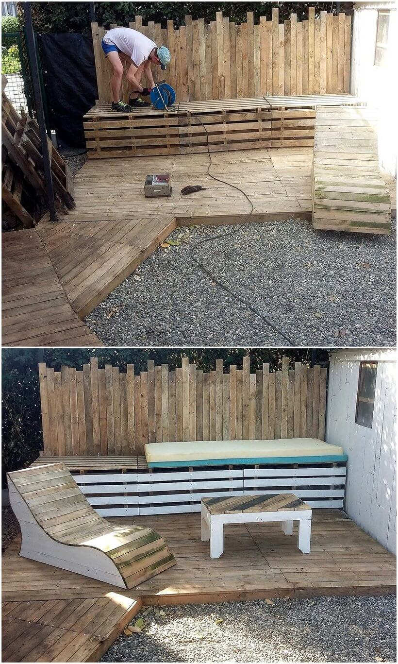 DIY Pallet Summer Terrace