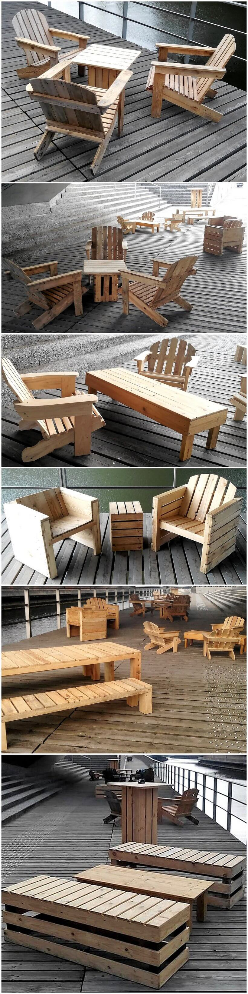 creative pallets wooden outdoor furniture