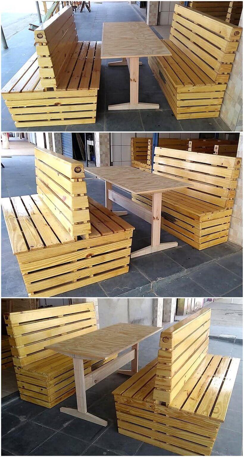 pallet cafe furniture plan