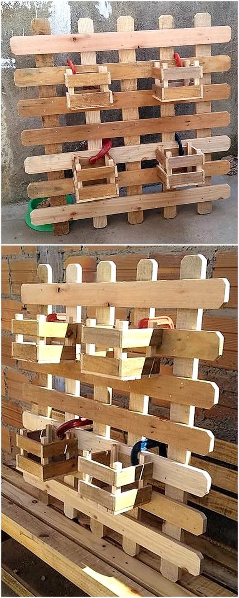 pallet wall planter idea