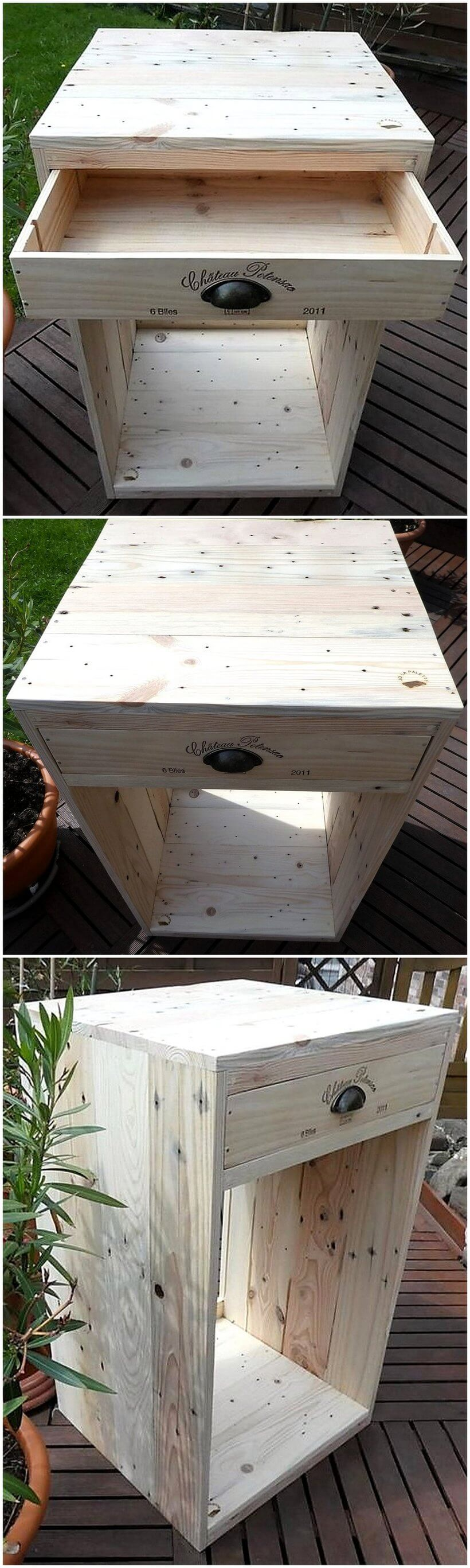 recycled pallets side table idea