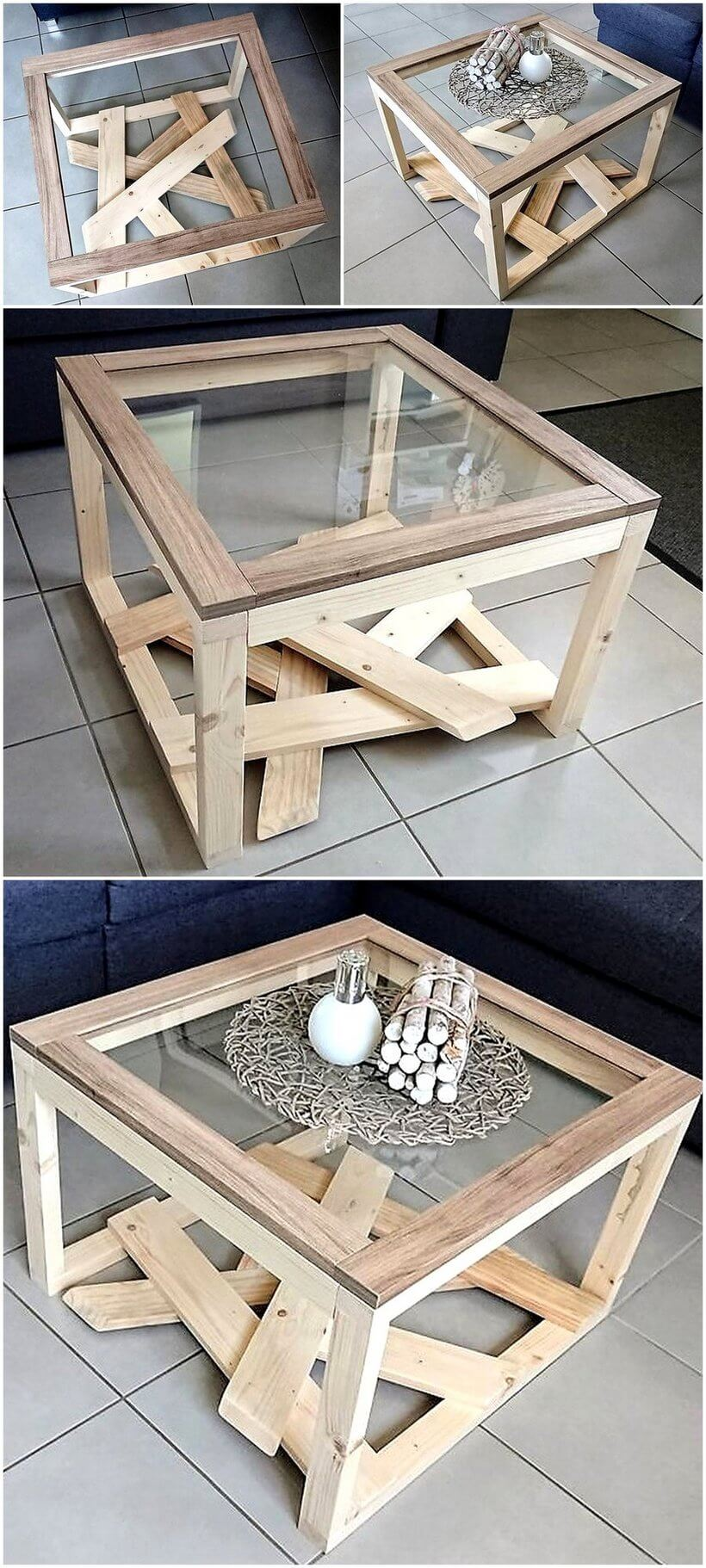 reused pallet table project