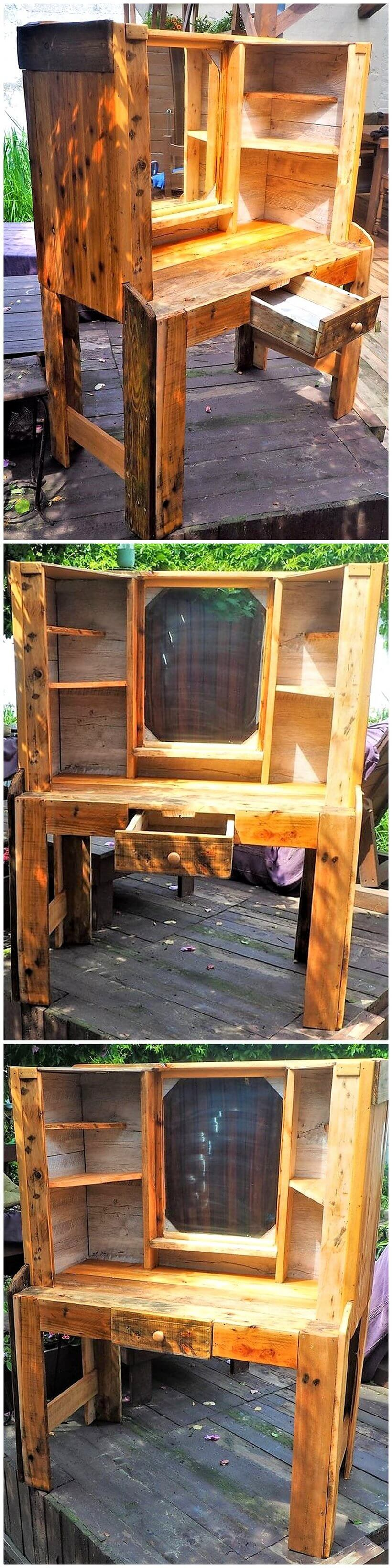 rustic vanity out of wooden pallets