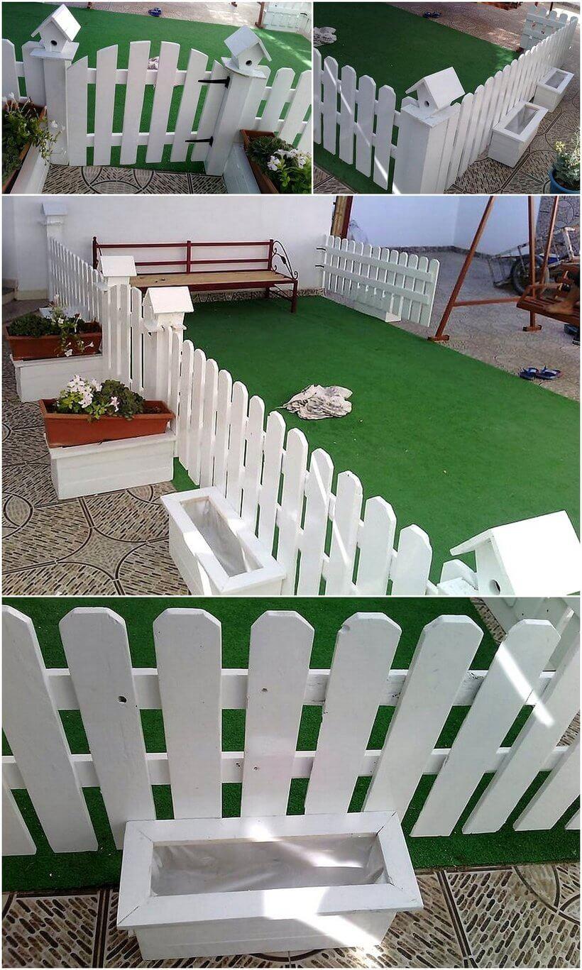 wood pallet fence idea