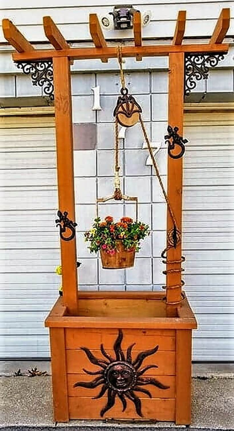 wooden pallet wishing well craft