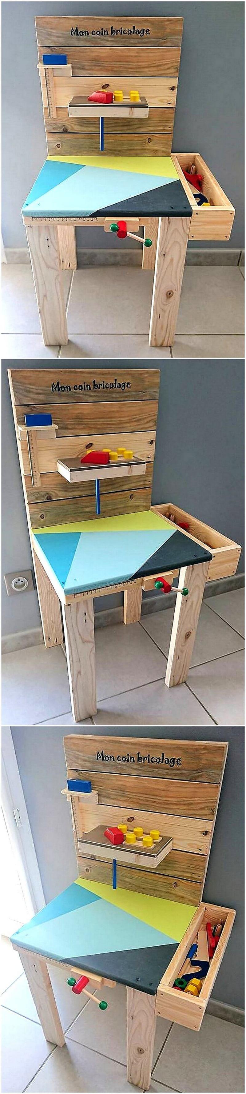 pallet kids chair
