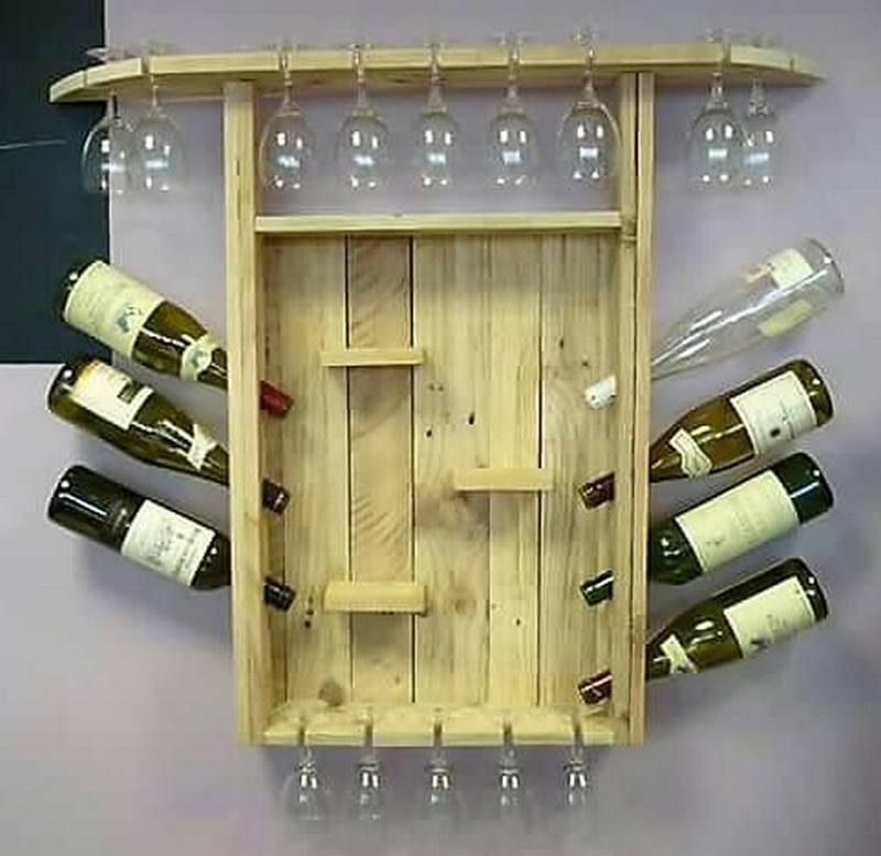 wooden pallet wall bar